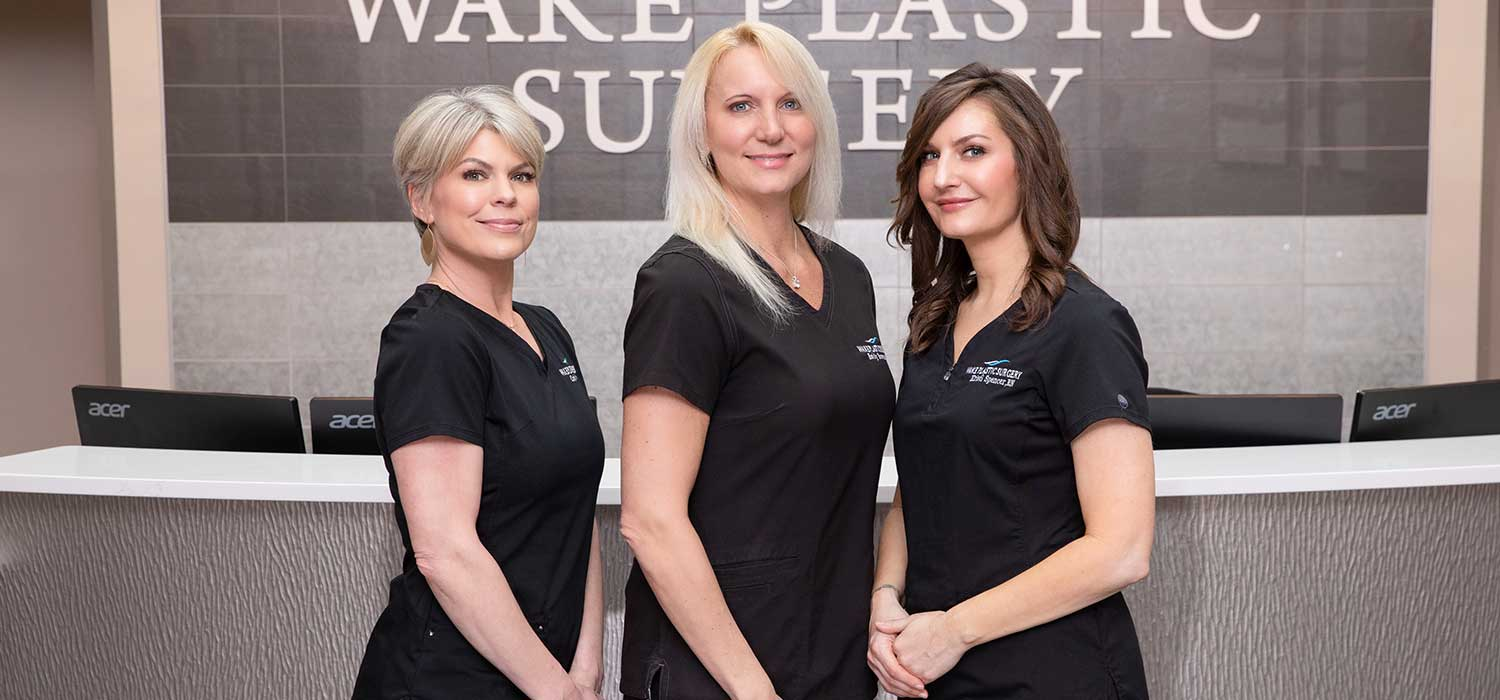 the med spa team at wake plastic surgery in cary nc